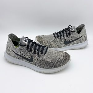 Nike Free RN Flyknit 2017 Running Shoes Wolf Gray